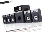 dixon home theatre system packaging