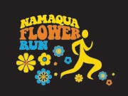 bright brown design namaqua flower run logo